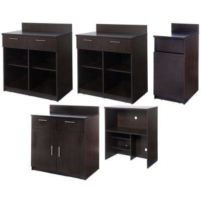 Coffee Kitchen Espresso Sideboard with Lunch Break Room Functionality with Assembled Commercial Grade
