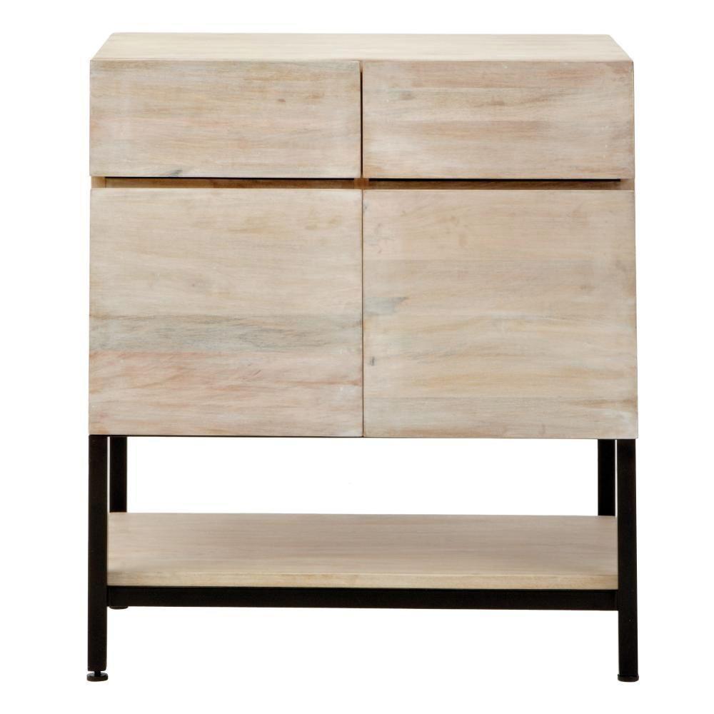 Anjou White Wash File Cabinet