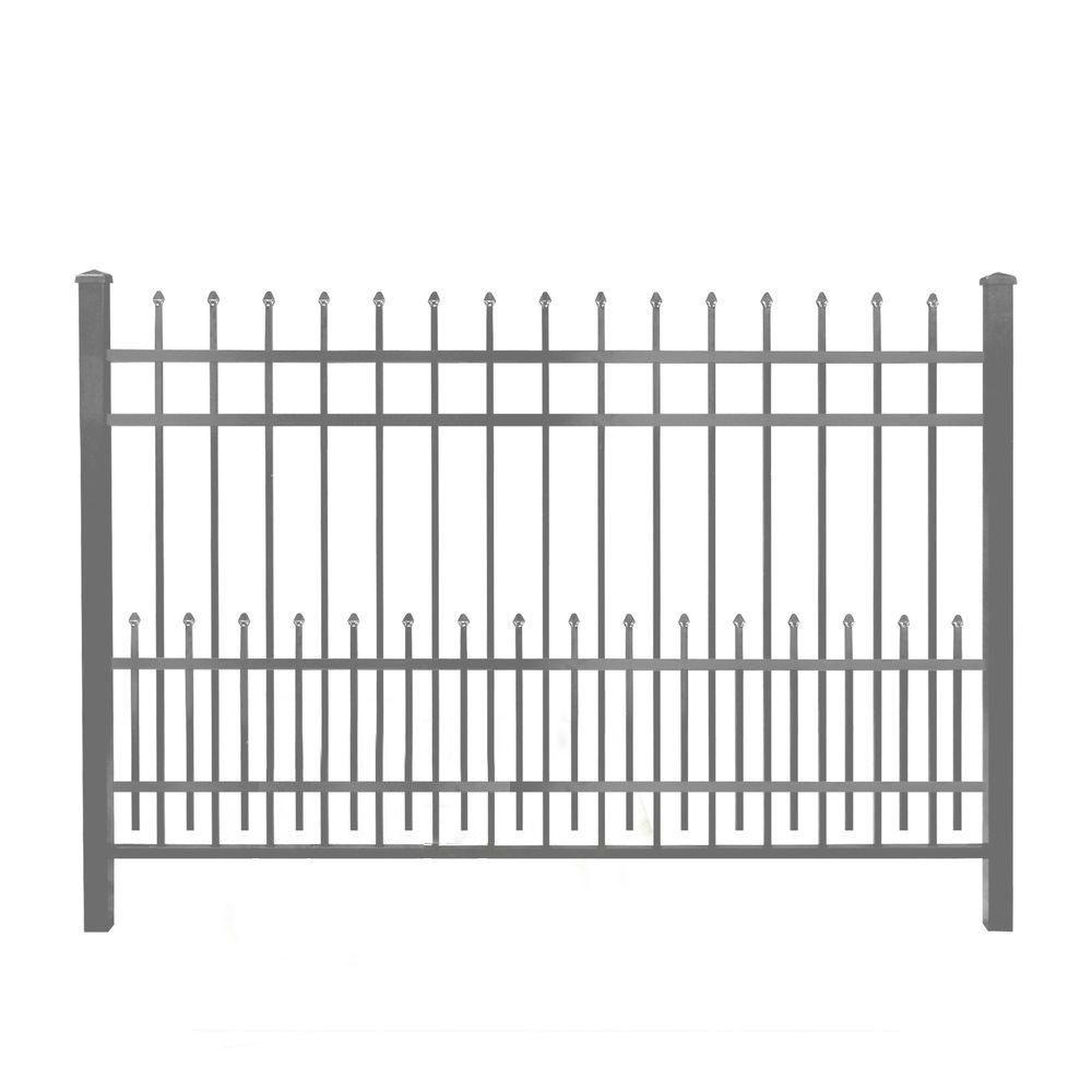 3/4 in. x 2 ft. x 6 ft. Bronze Aluminum Fence Puppy Guard...