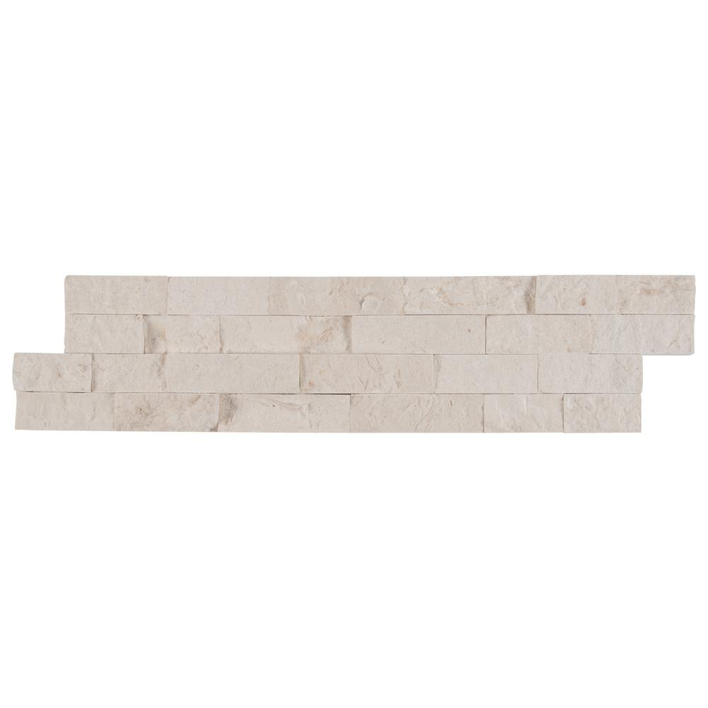 Freska Splitface Ledger Panel 6 in. x 24 in. Natural Limestone