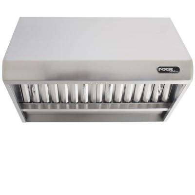 30 in. 800 CFM Professional Style Stainless Steel Range Hood with Stainless Steel Baffles