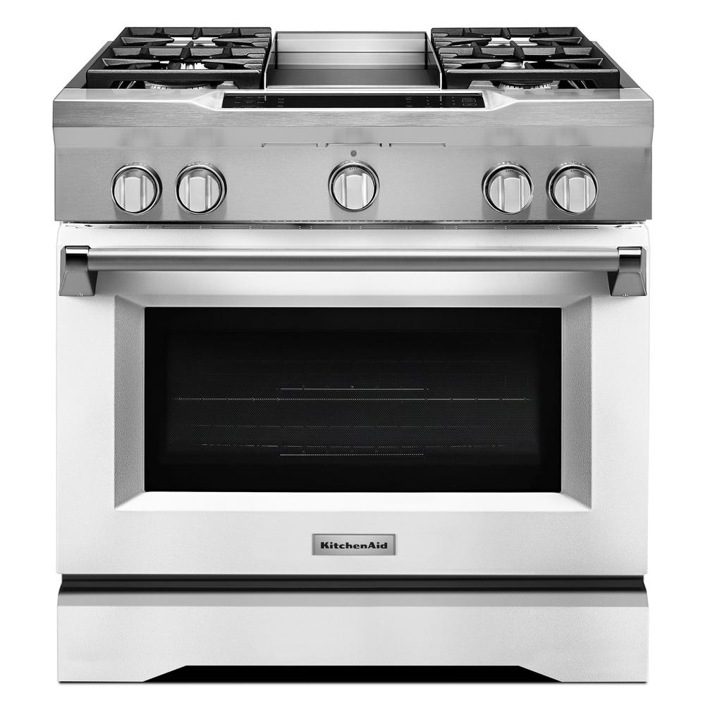 KitchenAid 36 In. 5.1 Cu. Ft. Dual Fuel Range With Convection Oven In
