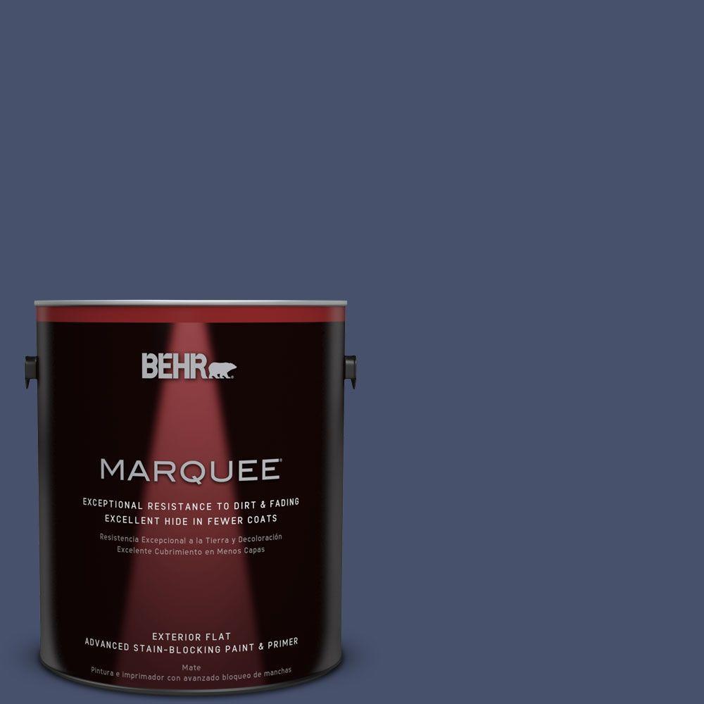 BEHR MARQUEE 1-gal. #M530-7 Elegant Navy Flat Exterior Paint