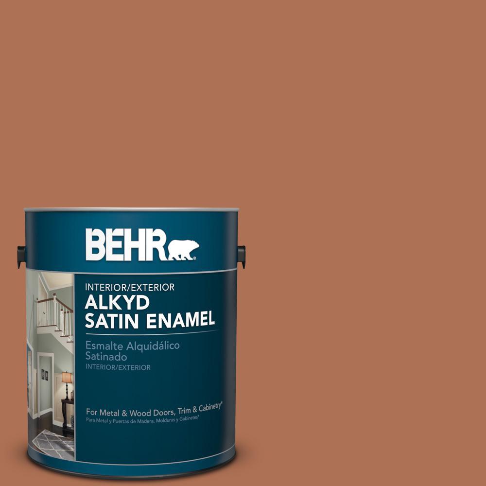 BEHR 1 gal. #PPU3-15 Glazed Pot Satin Enamel Alkyd Interi...