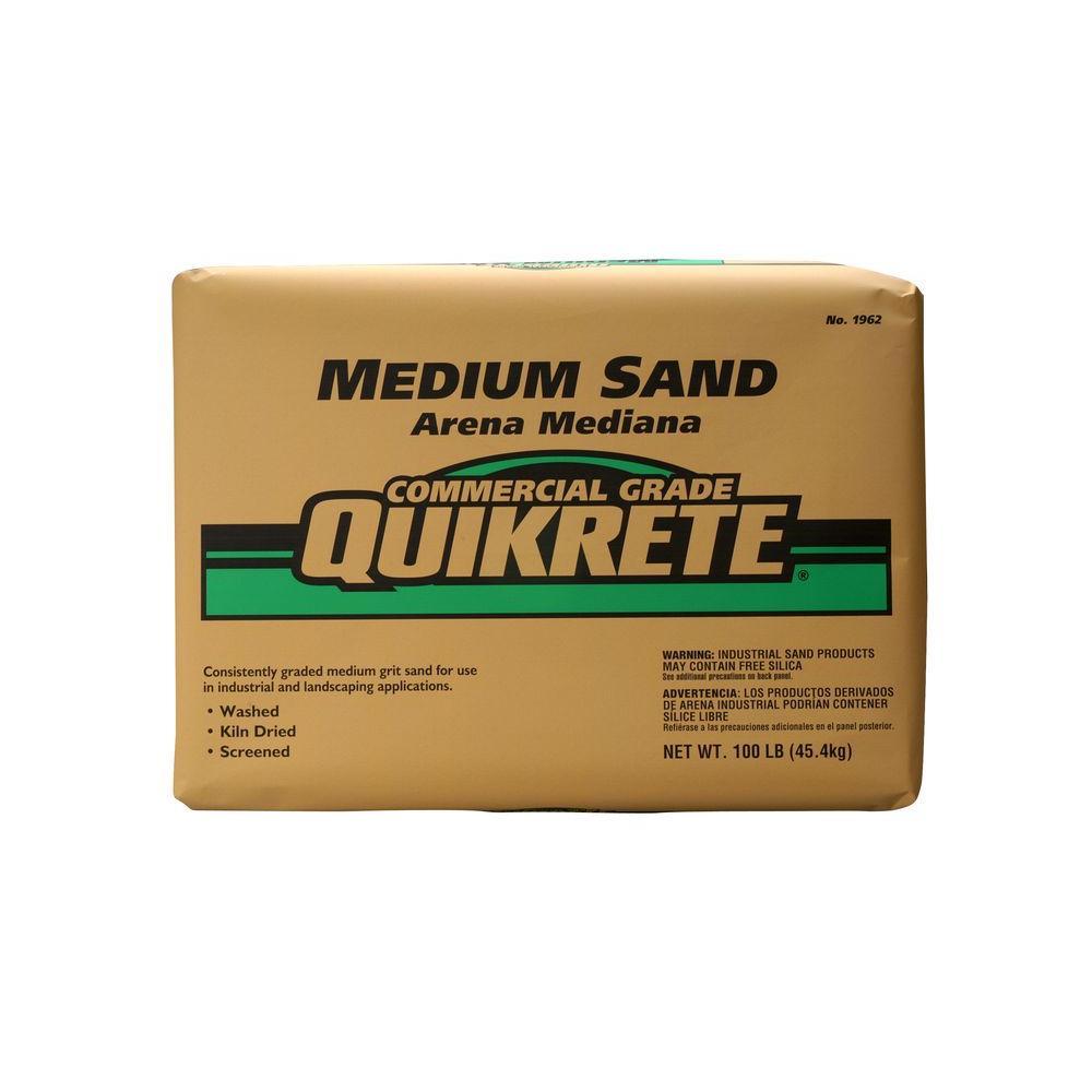 Quikrete 50 lb mercial Grade Sand Medium The Home Depot