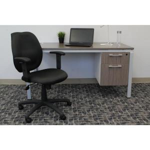 boss black fabric task chair with adjustable arms b495 bk the home