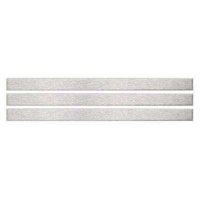 Alloy Stick 3/8 in. x 5-3/4 in. Stainless Steel Over Porcelain Wall Trim Tile (3-Pack)