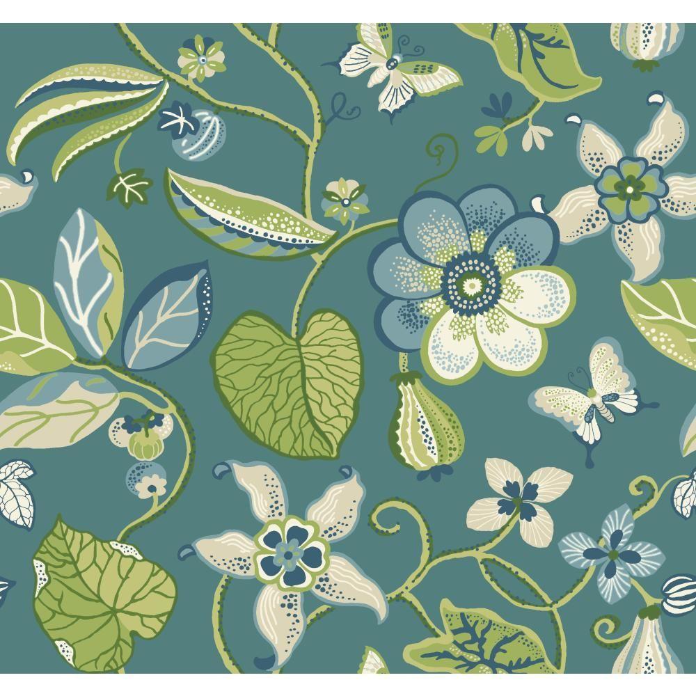 Carey Lind Vibe Sea Floral Wallpaper