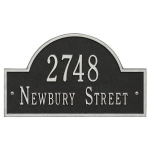 Whitehall Products Arch Marker Standard Black/Silver Wall 2-Line Address Plaque by Whitehall Products