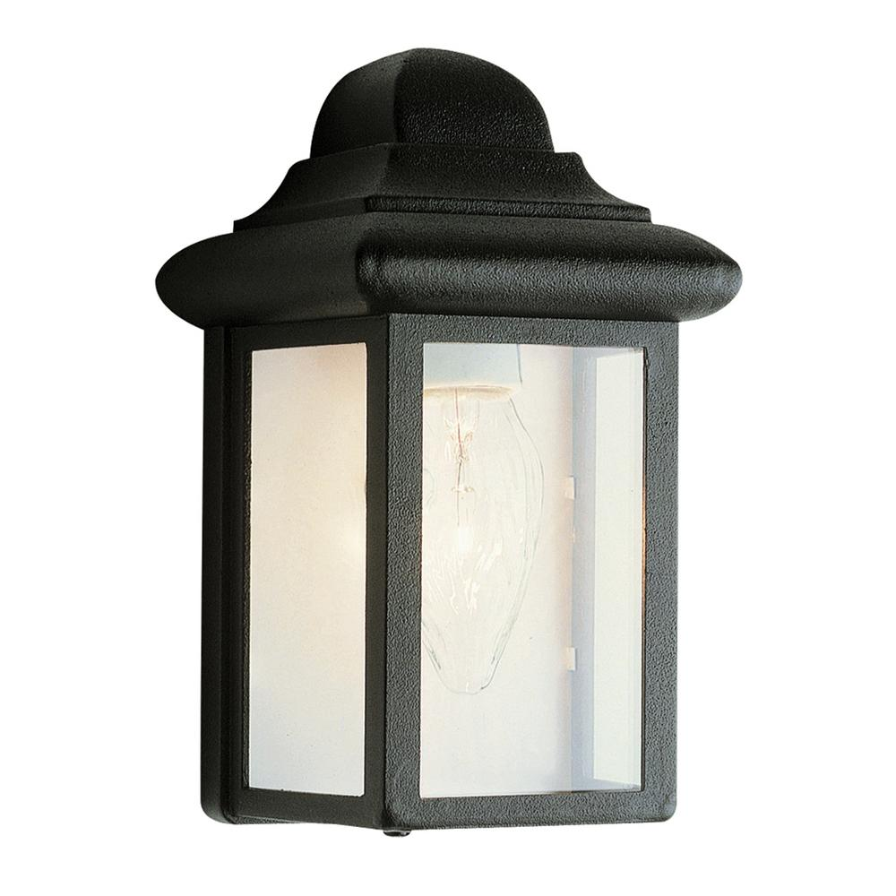 Vista 1-Light Black Outdoor Wall Mount Lantern