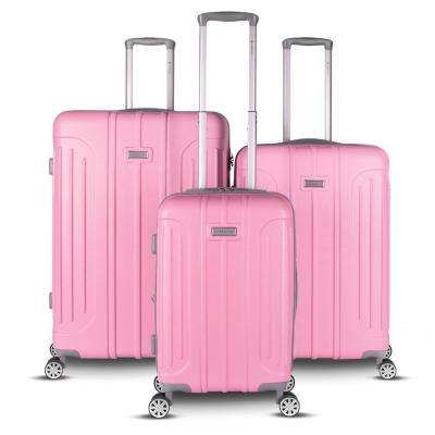 Viva Collection 3-Piece Pink Spinner Luggage Set