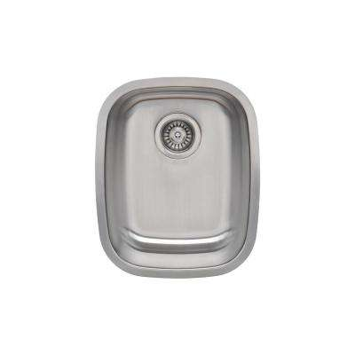 The Craftsmen Series Undermount  Stainless Steel 15 in. Single Bowl Kitchen Sink Package