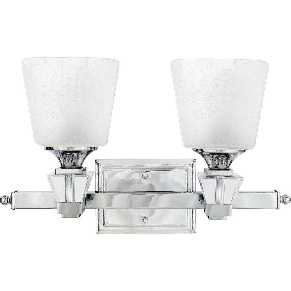 Home Decorators Collection Deluxe 2-Light Polished Chrome Bath Light