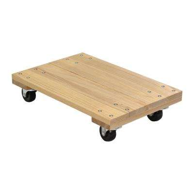 900 lbs. 16 in. x 24 in. Hardwood Dolly-Solid Deck