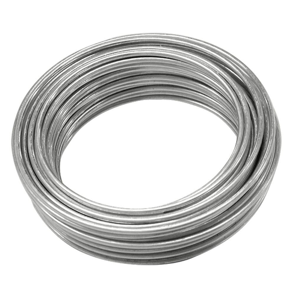 Ook 16 gauge 25 ft galvanized steel wire 50130 the home depot ook 16 gauge 25 ft galvanized steel wire greentooth Choice Image