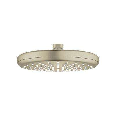 Tempesta 210 1-Spray 8-1/4 in. Fixed Showerhead with 2.5 GPM in Brushed Nickel
