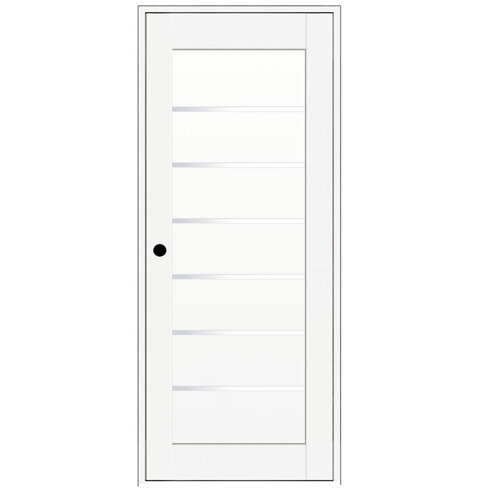 28 In. X 80 In. Iceberg White Left Hand Solid Core Composite 6