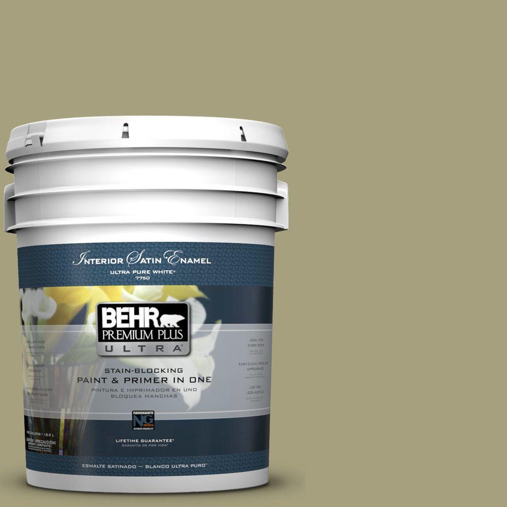 BEHR Premium Plus Ultra 5-gal. #S350-4 Sustainable Satin Enamel Interior Paint