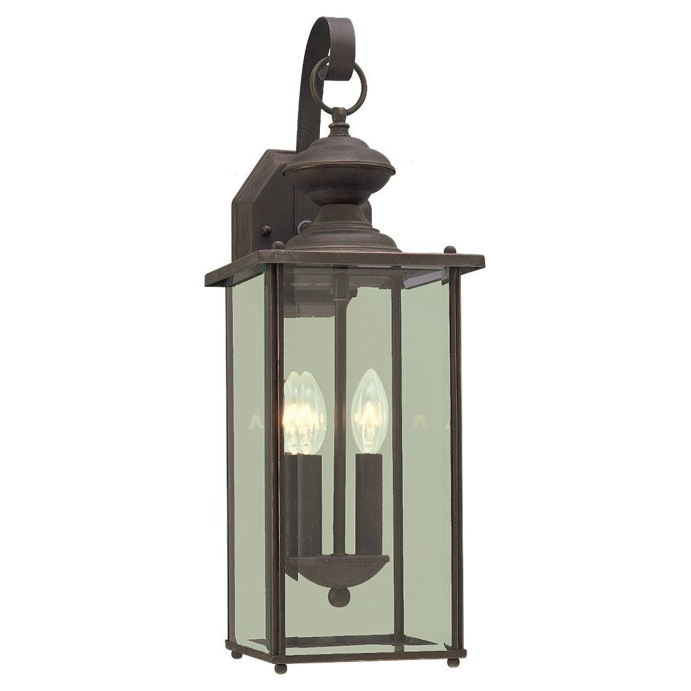 Jamestowne 2-Light Antique Bronze Outdoor Wall Fixture