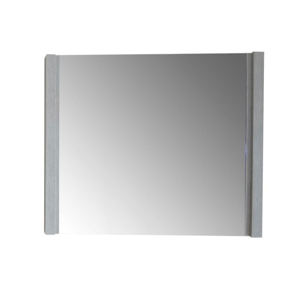 35.5 in. x 25.5 in. Single Framed Wall Mirror in Gray Pine