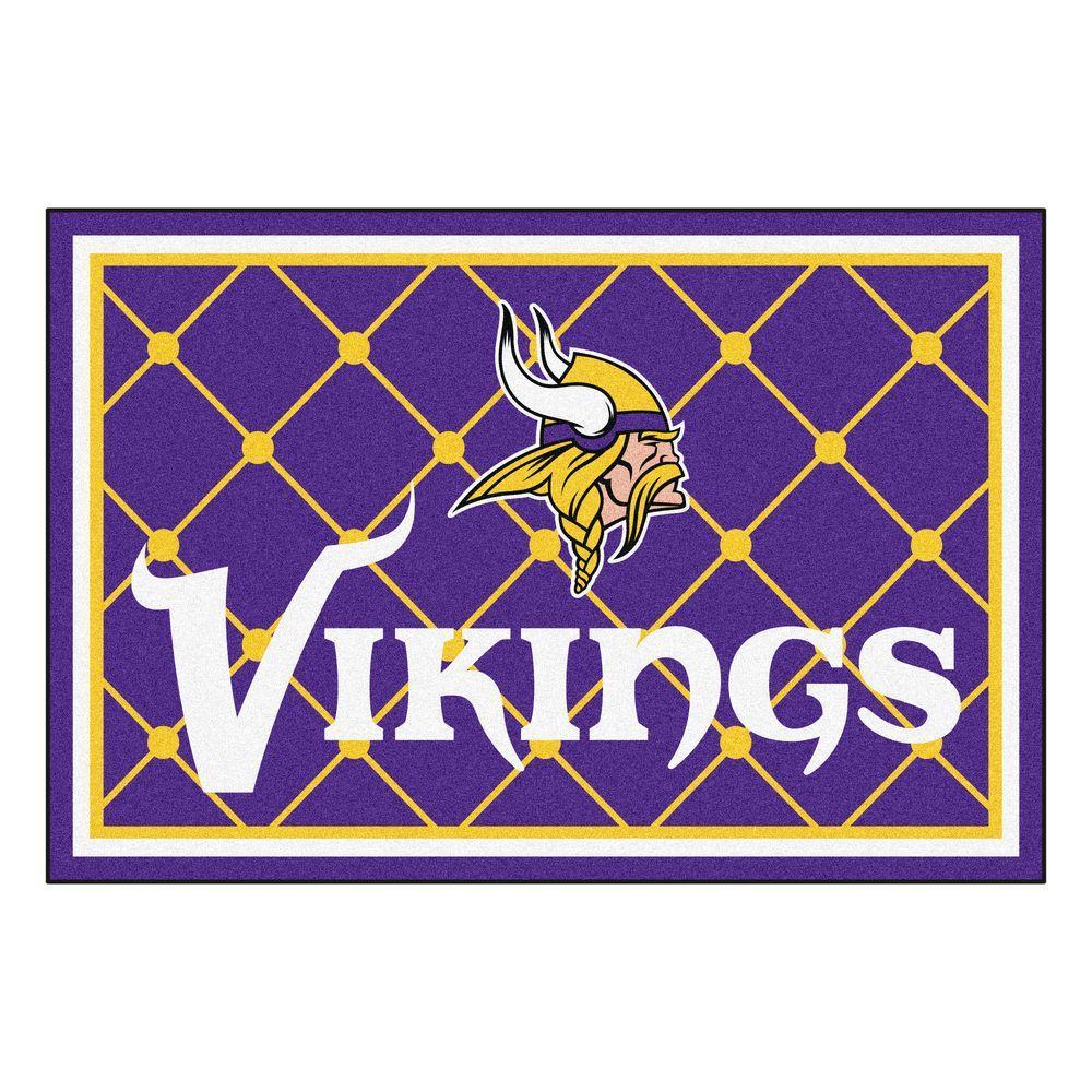 Fanmats Minnesota Vikings 5 Ft X 8 Area Rug