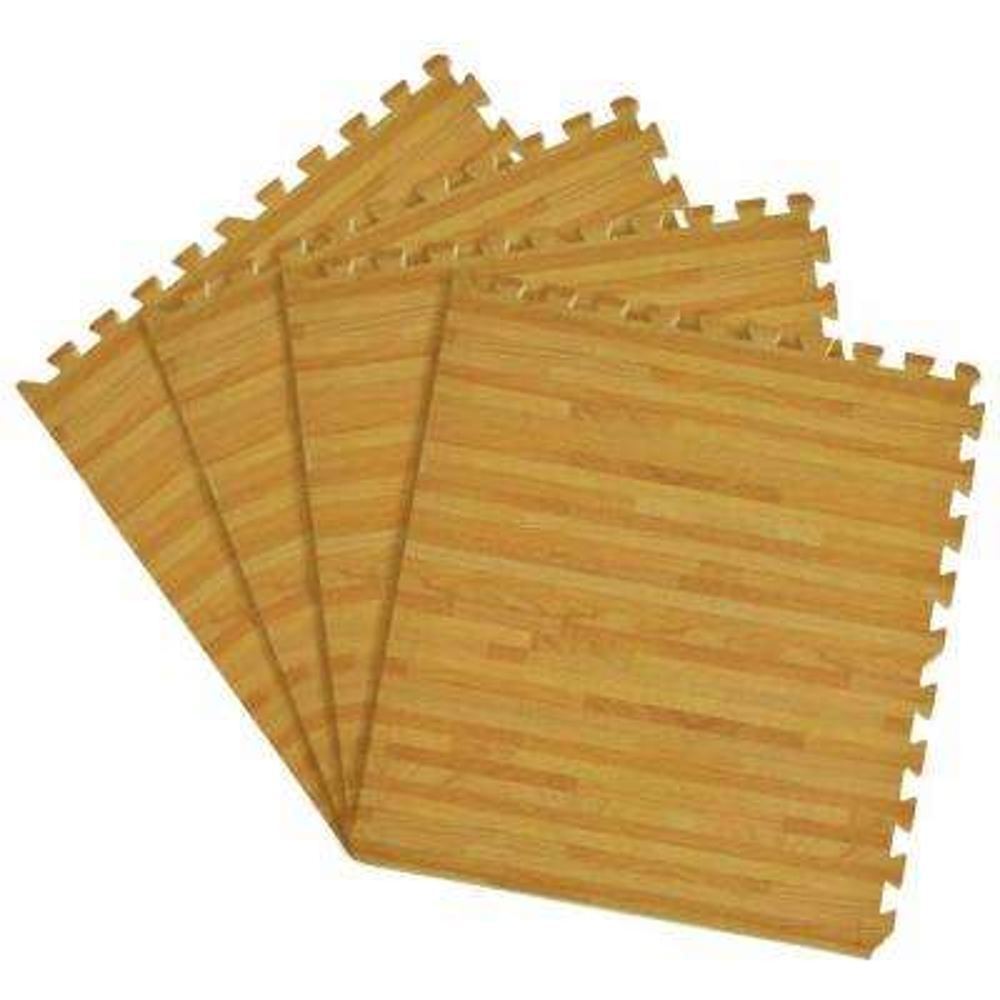Pine 24 in. x 24 in. Interlocking Foam Anti Fatigue Tiles (16 sq. ft./case)