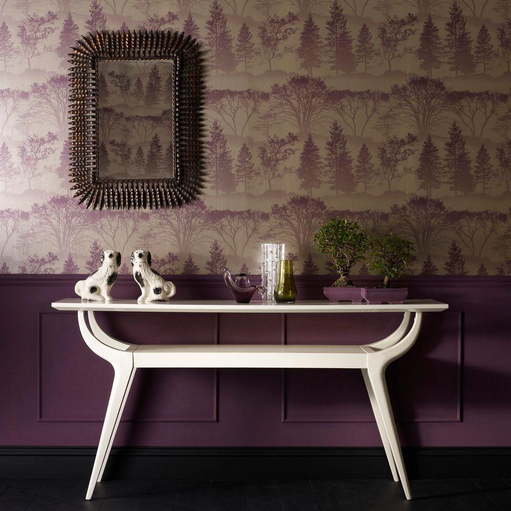 Graham & Brown 56 sq. ft. Mirage Purple Wallpaper