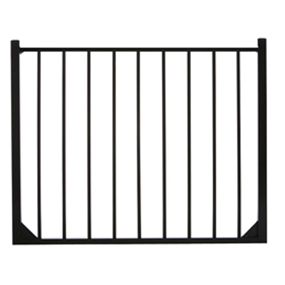 Specrail Meriden 4 ft. W x 4 ft. H Single Aluminum Fence Gate 2-Rail