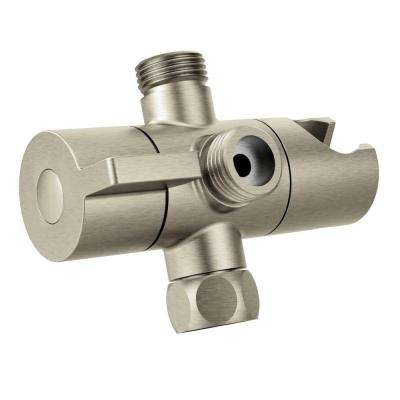 Shower Arm Diverter, Brushed Nickel