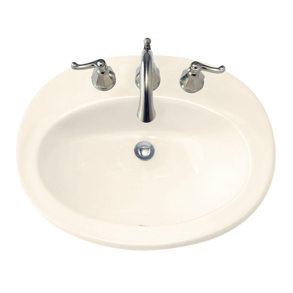 American Standard Piazza Self-Rimming Bathroom Sink in Linen
