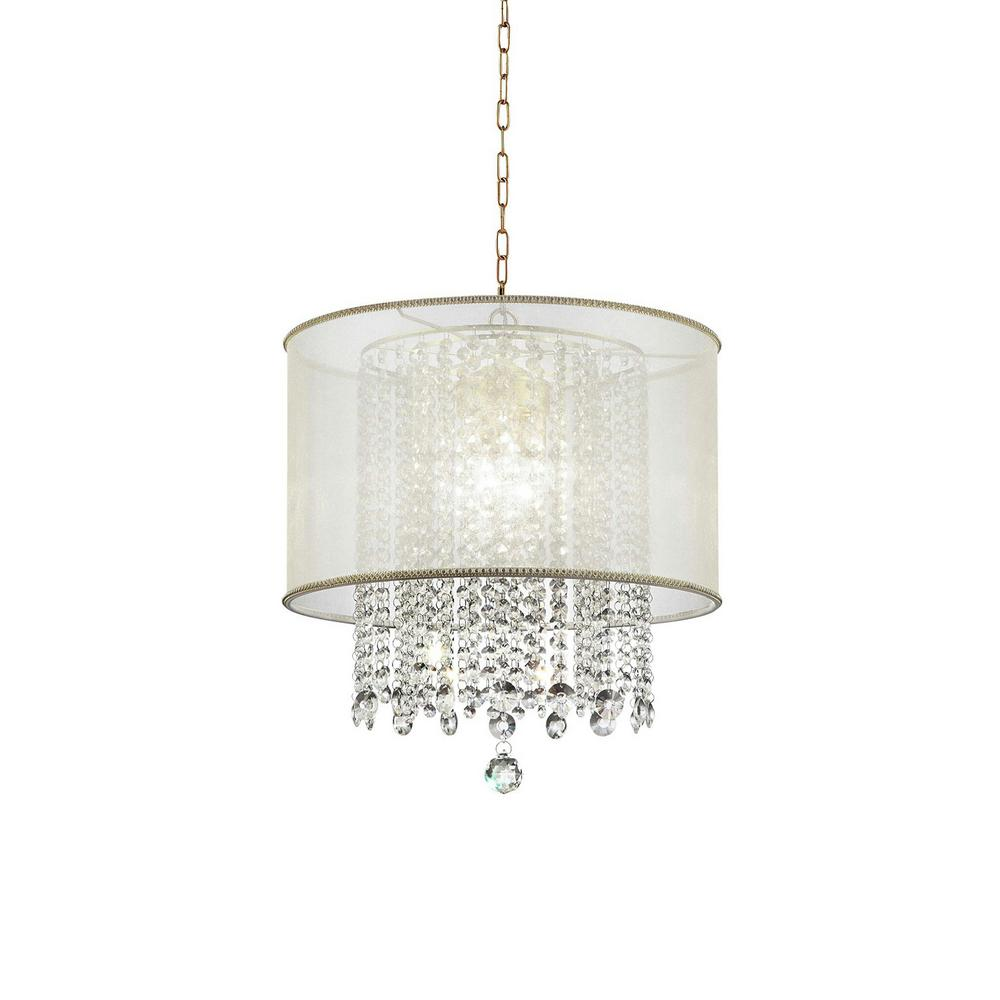 Ore international bhavya 3 light gold crystal chandelier k 5154h ore international bhavya 3 light gold crystal chandelier aloadofball Image collections