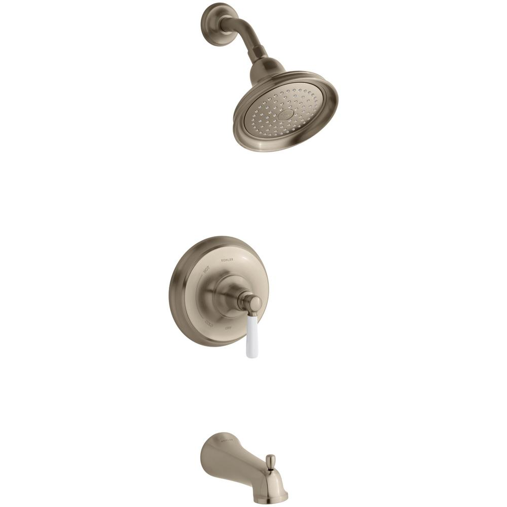 Kohler Bancroft 1-Handle Rite-Temp Tub and Shower Faucet Trim Kit ...