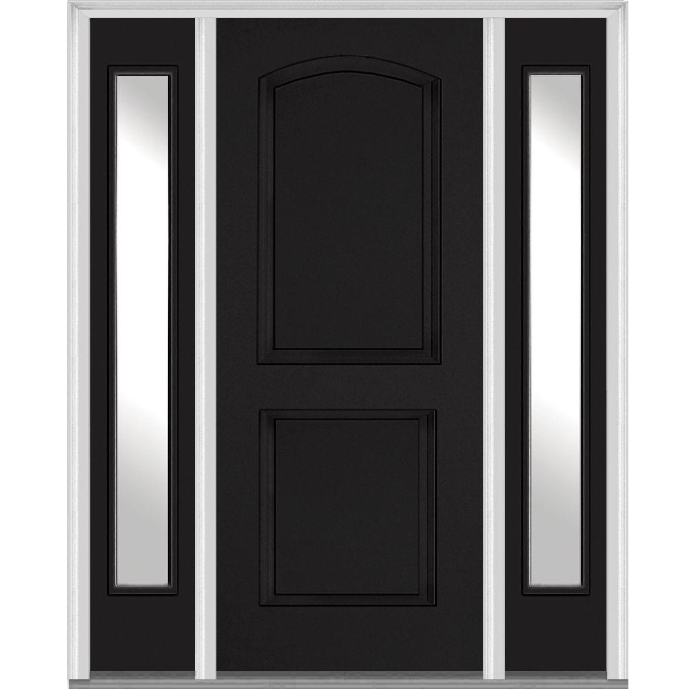 MMI Door 64 In. X 80 In. Right Hand Inswing 2-Panel Arch