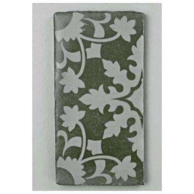 Archivo Zahra Encaustic Ceramic Floor and Wall Tile - 3 in. x 4 in. Tile Sample