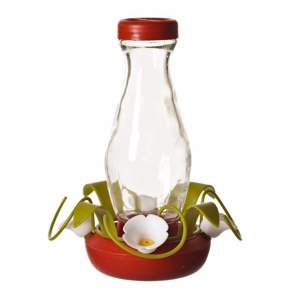 Glass Funnel-Fill Hummingbird Feeder