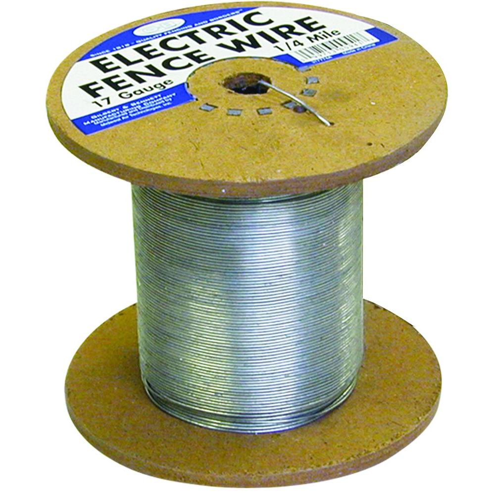 FARMGARD 1/4 Mile 17-Gauge Galvanized Electric Fence Wire on