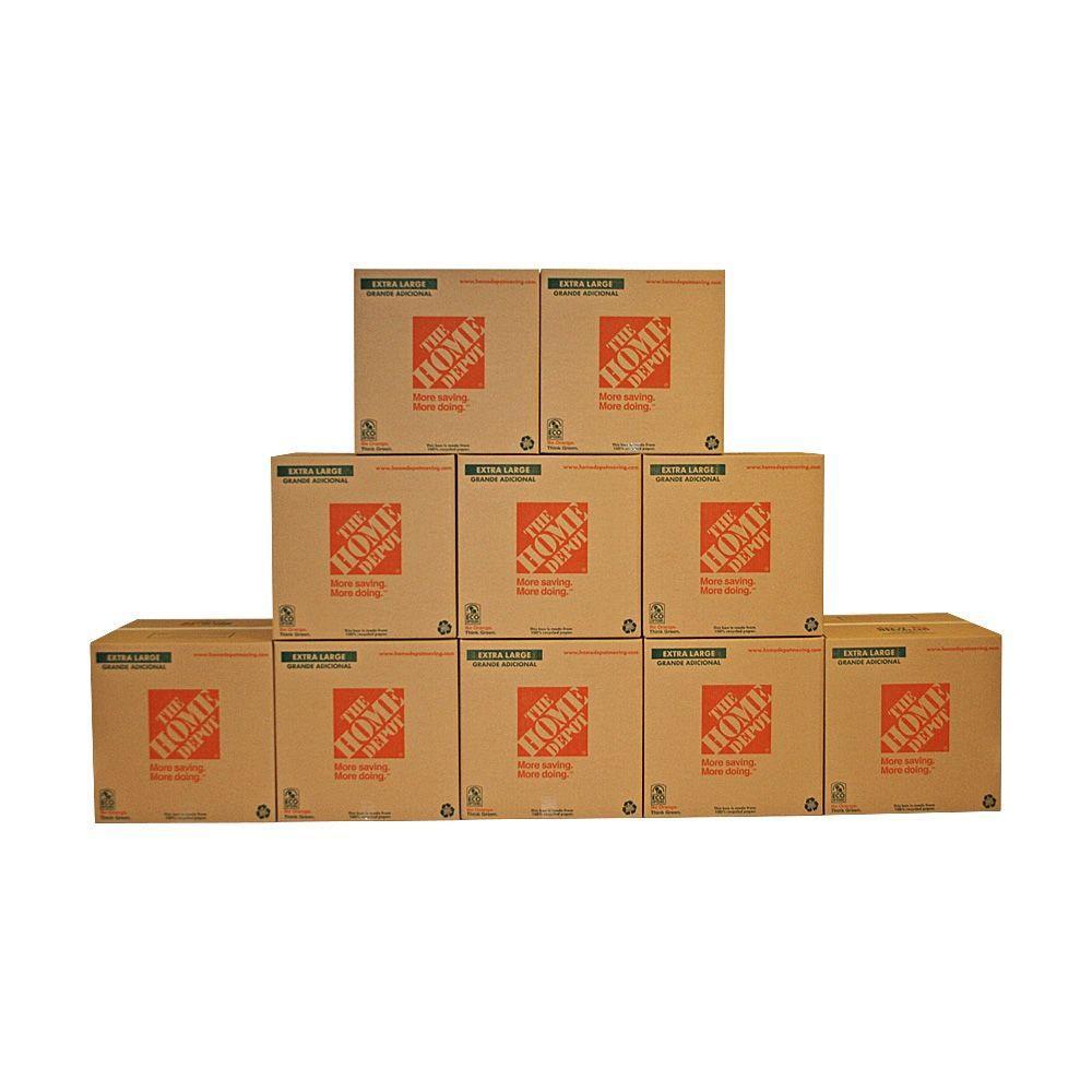 22 in. L x 22 in. W x 21 in. D Extra-Large Moving Box (10-Pack)