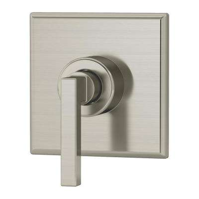 Duro Lever 1-Handle Wall-Mounted Diverter Trim Kit in Satin Nickel (Valve Included)