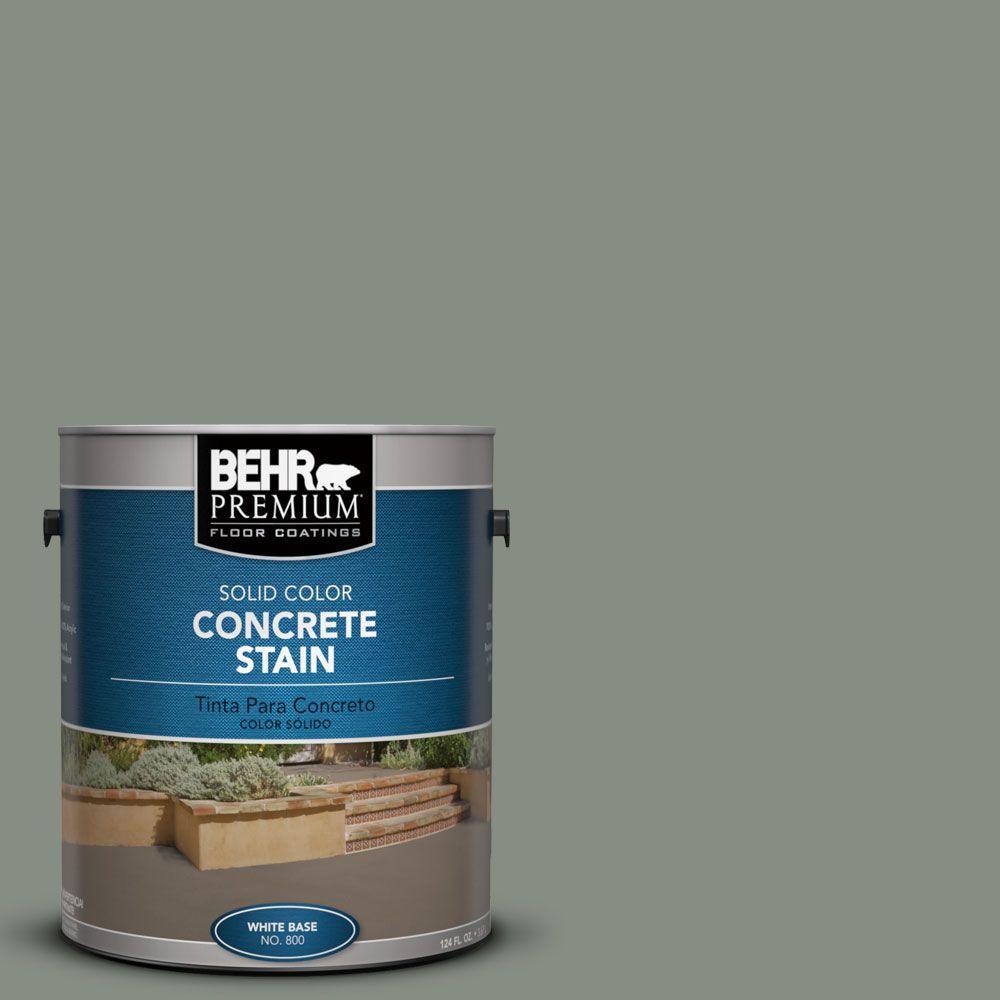 BEHR Premium 1 gal. #PFC-43 Peaceful Glade Solid Color Interior/Exterior Concrete Stain