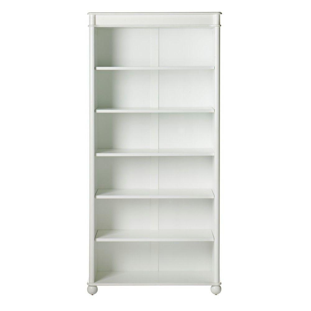 Home Decorators Collection Essex 68.5 in. H White 6-Shelf Open Bookcase