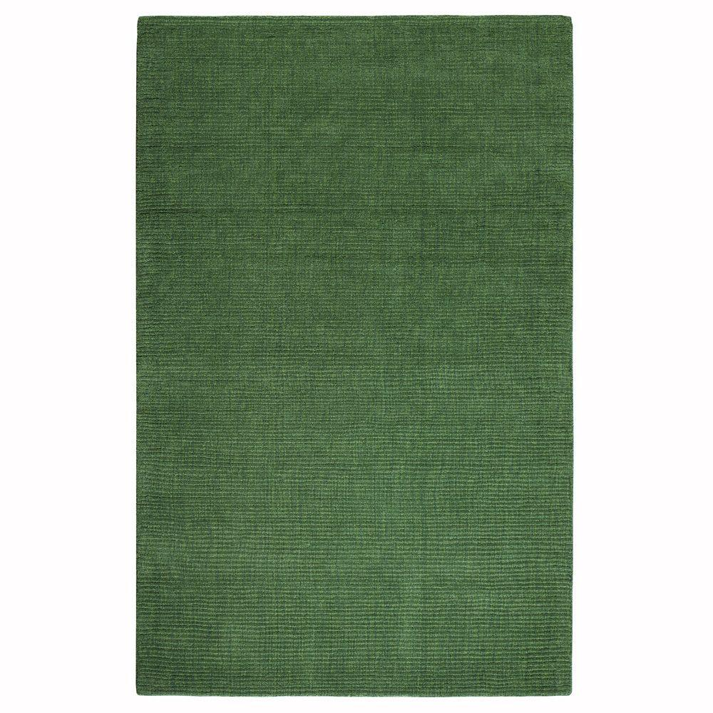 Home Decorators Collection Simplify Green 5 ft. 3 in. x 8 ft. 3 in. Area Rug