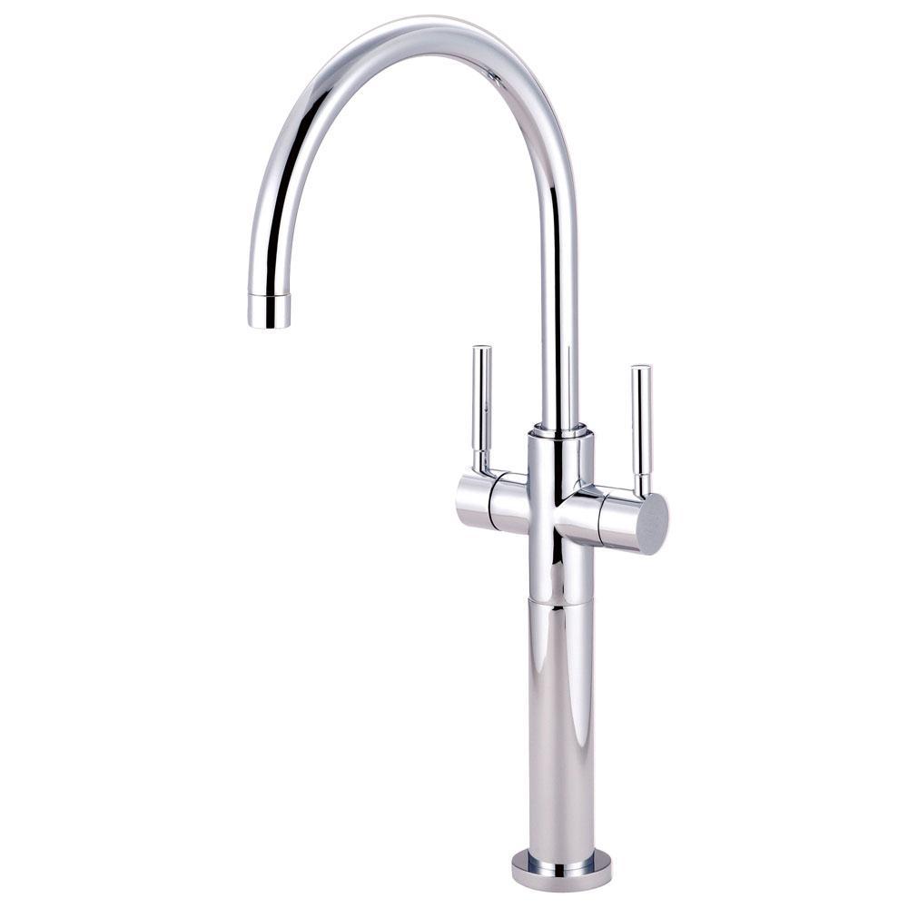 Abington Single Hole 2-Handle Vessel Bathroom Faucet in Chrome
