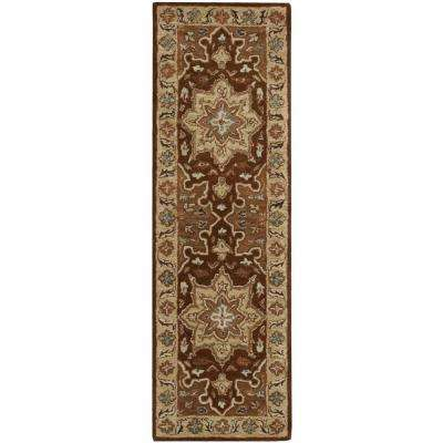 India House Chocolate 2 ft. x 7 ft. Runner Rug