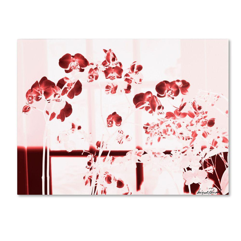 null 14 in. x 19 in. Red Orchids Canvas Art