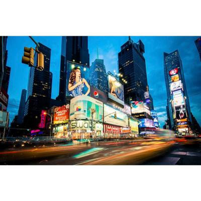 "54 in. x 84 in. ""Times Square Rays of Light III"" by Guilliame Gaudet Canvas Wall Art"