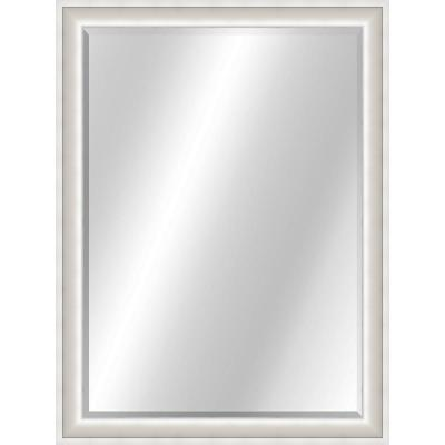 Curved 22 x 28 Value Core Silver White Framed Vanity Mirror