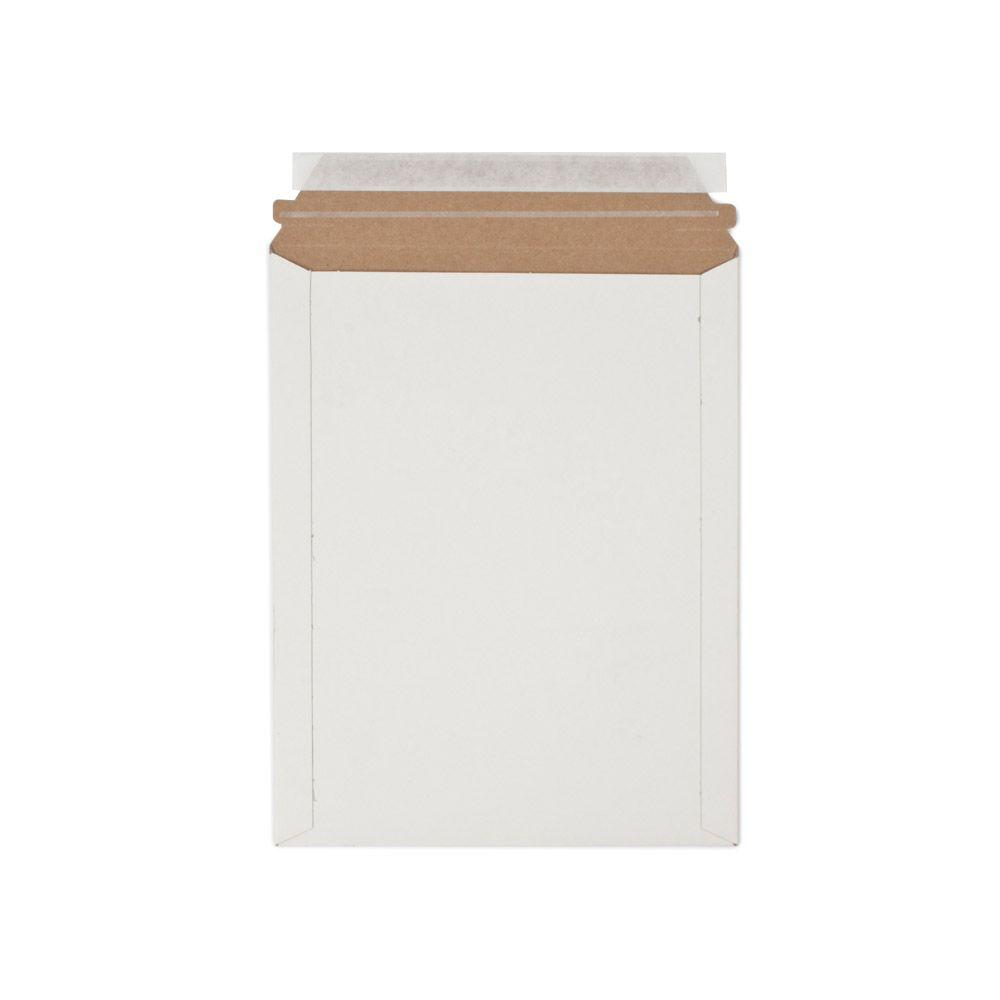 9 in. x 11.5 in. White Paperboard Stay Flat Mailers with