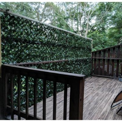 Expandable Double-Sided Ivy Leaf Vines Willow Trellis Privacy Fencing Screen
