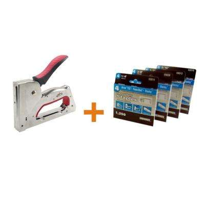 3-in-1 Manual Staple Gun with Staples