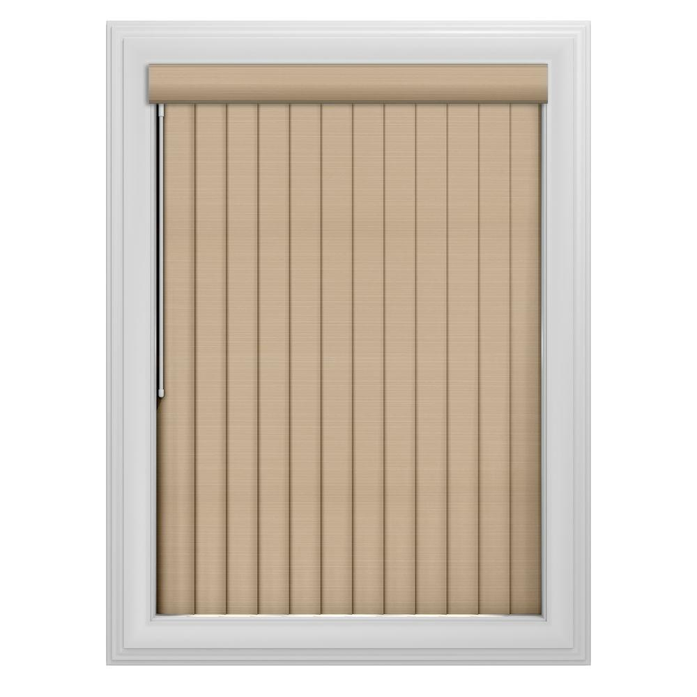 Bali Cut-to-Size 3.5 in. W x 84 in. L Sula Putty 3 Vertical Blind/Louver Set